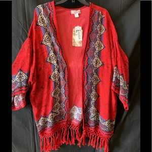 Band Of Gypsies Kimono With Tassels NWT C38